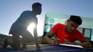 Welsh sprinter and college student Jeremiah Azu
