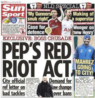 The Sun back page on Saturday