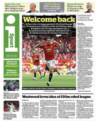 L'ultima pagina del giornale del mercoledì
