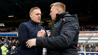 Managers Garry Monk and Dean Smith