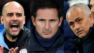 Pep Guardiola, Frank Lampard and Jose Mourinho