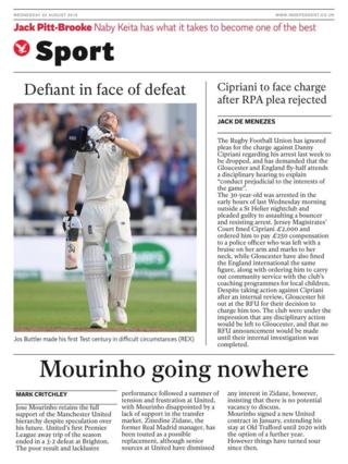 Wednesday's Independent