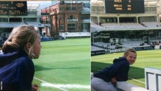 Anya Shrubsole as a youngster at Lord's