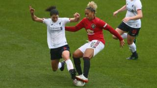 Manchester United Women beat Liverpool Women 2-0 in their first ever WSL meeting.