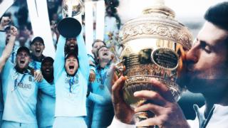 Eoin Morgan and England lift the World Cup and Novak Djokovic lifts the Wimbledon trophy