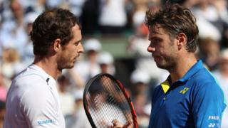 Andy Murray and Stan Wawrinka after their 2017 French Open semi-final