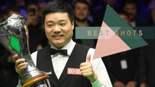 Ding Junhui celebrates