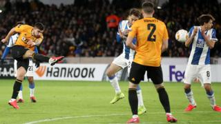 Ruben Neves scores against Espanyol