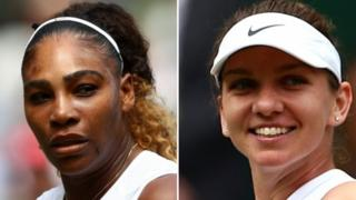 Serena Williams and Simona Halep