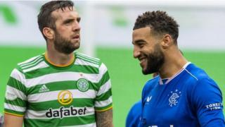 Celtic's Shane Duffy and Rangers' Connor Goldson