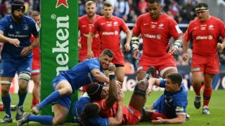 Saracens close in on the line