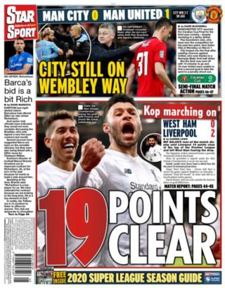 Star: 19 points clear