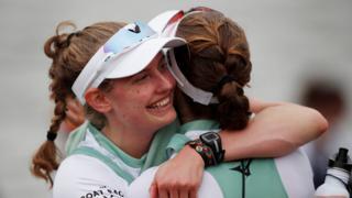 Cambridge rowers celebrate