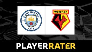Man City v Watford player rater graphic