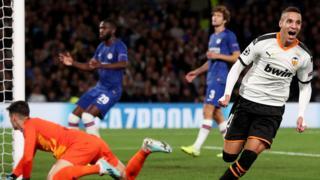 Rodrigo Moreno scores for Valencia