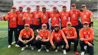 England with the T20 trophy