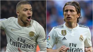 Kylian Mbappe and Luka Modric