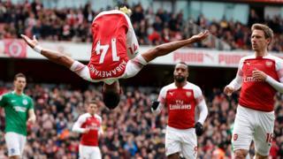 Aubameyang scores penalty