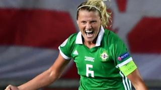 Ashley Hutton of Northern Ireland celebrates