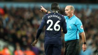 Arthur Masuaku is sent off