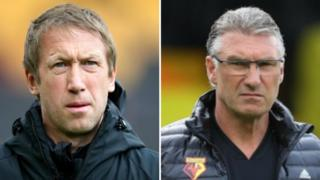 Graham Potter and Nigel Pearson