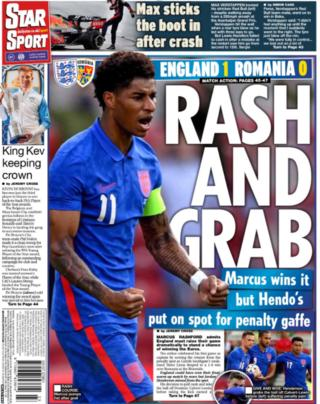 Back page of the Daily Star on 7 June