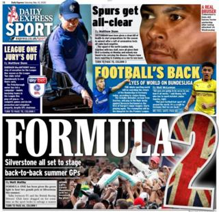 The return of the Bundesliga dominates the back pages on Saturday