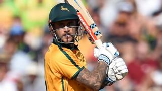 Notts Outlaws' Alex Hales