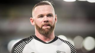 Derby County's Wayne Rooney