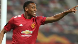Anthony Martial celebrates his goal for Manchester United