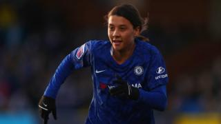 Sam Kerr playing for Chelsea