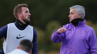 Harry Kane and Jose Mourinho