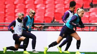 England train before Germany game