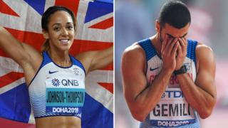 Katarina Johnson-Thompson and Adam Gemili
