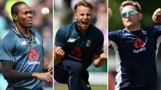 Jofra Archer, Tom Curran and Liam Dawson