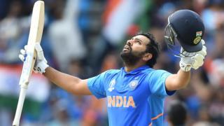 Rohit Sharma celebrates his latest centiry at Headingley