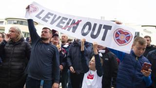 Levein out banner