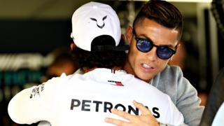 Lewis Hamilton and Ronaldo