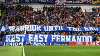 Rangers fan tribute