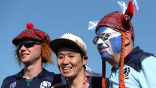 Scotland fans in Japan
