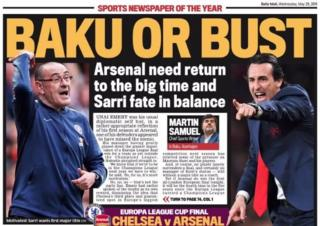 Daily Mail back page: Baku or bust