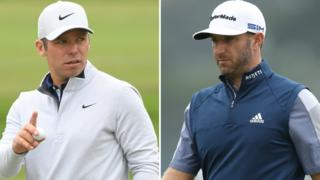 Paul Casey (left) and Dustin Johnson (right)