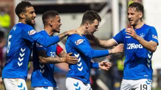 Rangers' Ryan Jack celebrates