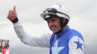 Ruby Walsh gives a thumbs up after winning the Punchestown Gold Cup