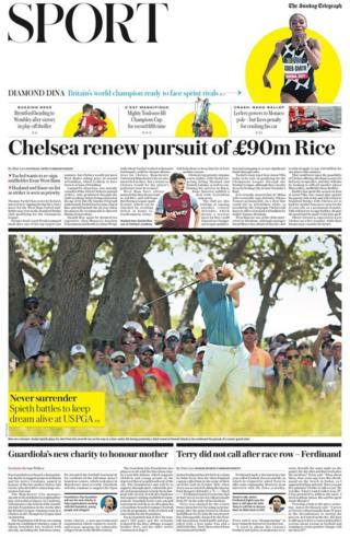 The sport section of The Sunday Telegraph