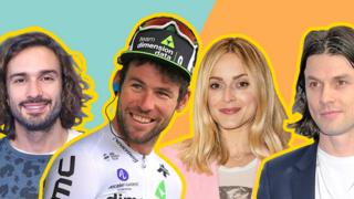 Collage of Joe Wicks, Mark Cavendish, Fearne Cotton and James Bay