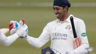 Haseeb Hameed reaches century