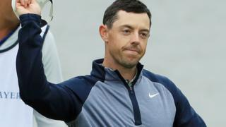 Rory McIlroy celebrates winning the Players Championship