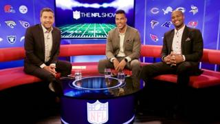 Mark Chapman, Osi Umenyiora and Jason Bell