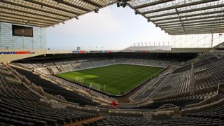 A general view of Newcastle's St James' Park